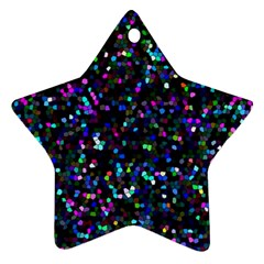 Glitter 1 Star Ornament (Two Sides)