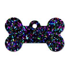 Glitter 1 Dog Tag Bone (two Sides)