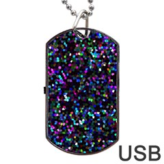 Glitter 1 Dog Tag Usb Flash (one Side)