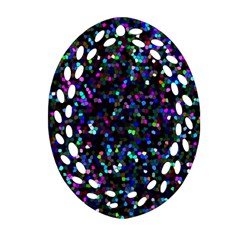 Glitter 1 Oval Filigree Ornament (2 Side)