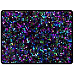 Glitter 1 Double Sided Fleece Blanket (large)