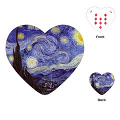 Van Gogh Starry Night Playing Cards (heart)