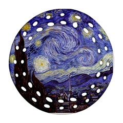 Van Gogh Starry Night Ornament (Round Filigree)