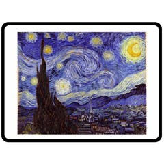 Van Gogh Starry Night Double Sided Fleece Blanket (Large)