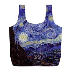 Van Gogh Starry Night Full Print Recycle Bags (L)