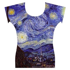 Van Gogh Starry Night Women s Cap Sleeve Top
