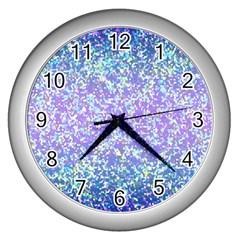 Glitter 2 Wall Clocks (silver)