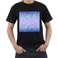 Glitter 2 Men s T Shirt (black) (two Sided)
