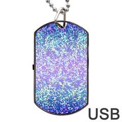 Glitter 2 Dog Tag USB Flash (Two Sides)