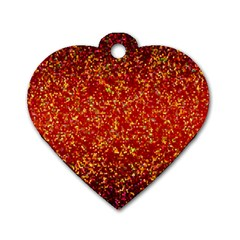 Glitter 3 Dog Tag Heart (One Side)
