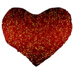 Glitter 3 Large 19  Premium Flano Heart Shape Cushions Back
