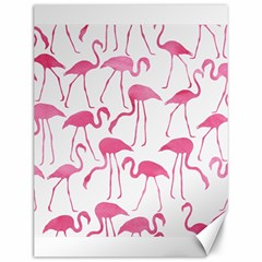Pink Flamingos Pattern Canvas 12  x 16