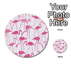 Pink Flamingos Pattern Multi-purpose Cards (Round)