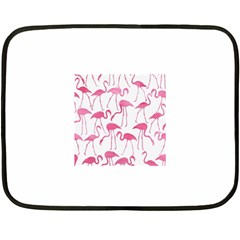 Pink Flamingos Pattern Fleece Blanket (Mini)