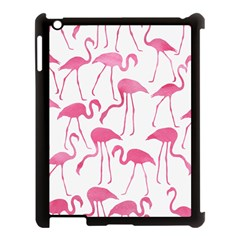 Pink Flamingos Pattern Apple iPad 3/4 Case (Black)