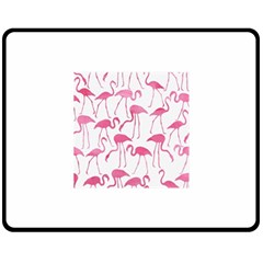 Pink Flamingos Pattern Double Sided Fleece Blanket (medium)