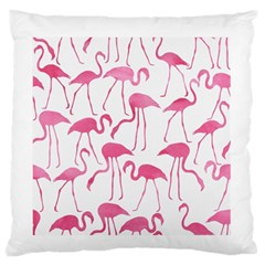Pink Flamingos Pattern Large Flano Cushion Cases (Two Sides)