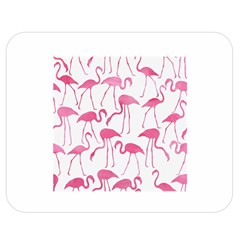 Pink Flamingos Pattern Double Sided Flano Blanket (Medium)