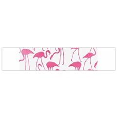 Pink Flamingos Pattern Flano Scarf (small)