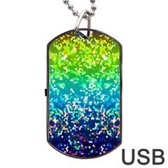 Glitter 4 Dog Tag USB Flash (One Side)