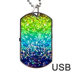 Glitter 4 Dog Tag USB Flash (One Side)