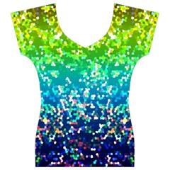 Glitter 4 Women s V-Neck Cap Sleeve Top