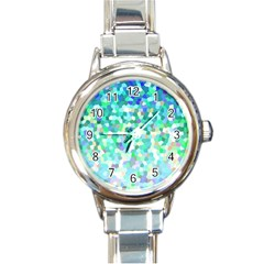 Mosaic Sparkley 1 Round Italian Charm Watches