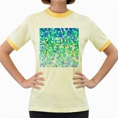 Mosaic Sparkley 1 Women s Fitted Ringer T-Shirts