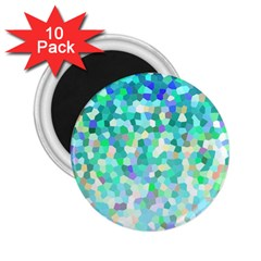 Mosaic Sparkley 1 2 25  Magnets (10 Pack)