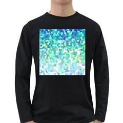Mosaic Sparkley 1 Long Sleeve Dark T-Shirts