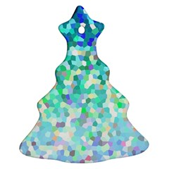 Mosaic Sparkley 1 Christmas Tree Ornament (2 Sides)