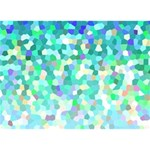 Mosaic Sparkley 1 Peace Sign 3D Greeting Card (7x5)  Front