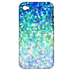 Mosaic Sparkley 1 Apple iPhone 4/4S Hardshell Case (PC+Silicone)
