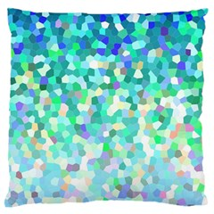 Mosaic Sparkley 1 Large Flano Cushion Cases (Two Sides)