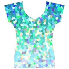 Mosaic Sparkley 1 Women s V-Neck Cap Sleeve Top