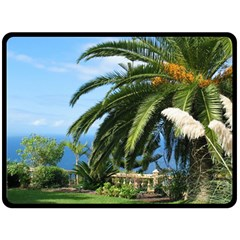 Sunny Tenerife Double Sided Fleece Blanket (Large)