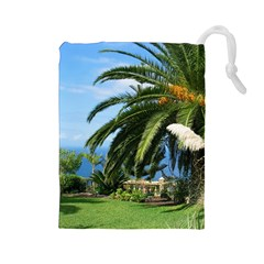 Sunny Tenerife Drawstring Pouches (Large)