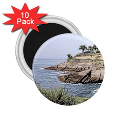 Tenerife,painted Version 2 25  Magnets (10 Pack)