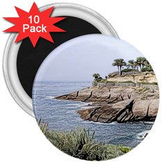 Tenerife,painted Version 3  Magnets (10 pack)