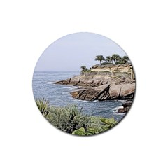Tenerife,painted Version Rubber Round Coaster (4 pack)