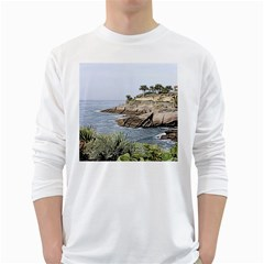 Tenerife,painted Version White Long Sleeve T-Shirts