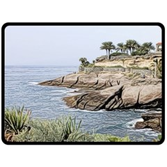 Tenerife,painted Version Fleece Blanket (large)