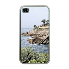 Tenerife,painted Version Apple iPhone 4 Case (Clear)