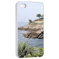 Tenerife,painted Version Apple Iphone 4/4s Seamless Case (white)