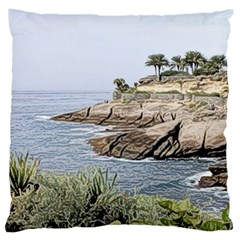 Tenerife,painted Version Large Cushion Cases (One Side)