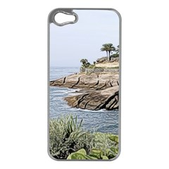 Tenerife,painted Version Apple iPhone 5 Case (Silver)