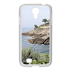 Tenerife,painted Version Samsung GALAXY S4 I9500/ I9505 Case (White)