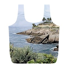 Tenerife,painted Version Full Print Recycle Bags (L)