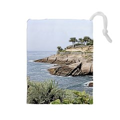 Tenerife,painted Version Drawstring Pouches (Large)