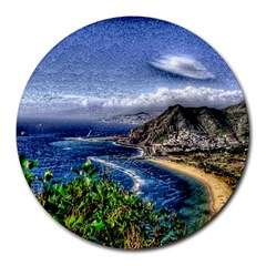 Tenerife 12 Effect Round Mousepads